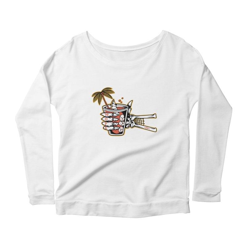 Hope cocktail Women's Scoop Neck Longsleeve T-Shirt by Joe Tamponi