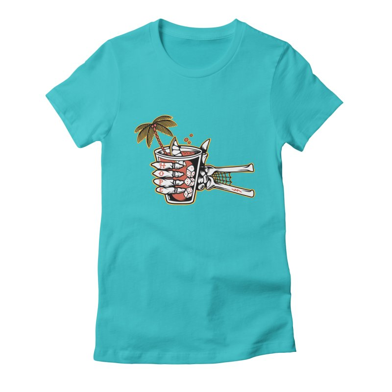 Hope cocktail Women's Fitted T-Shirt by Joe Tamponi
