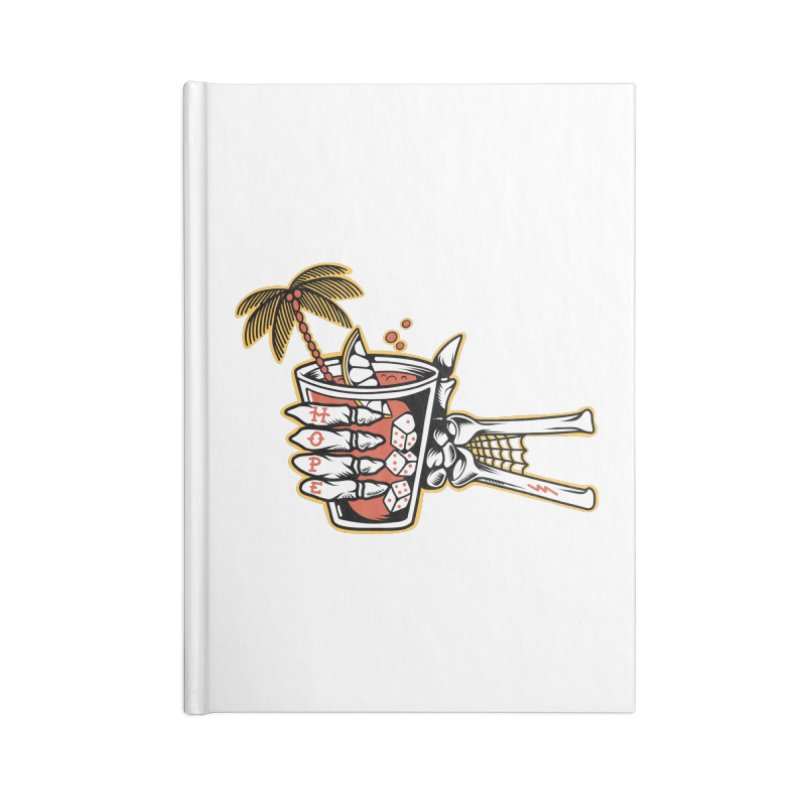 Hope cocktail Accessories Lined Journal Notebook by Joe Tamponi