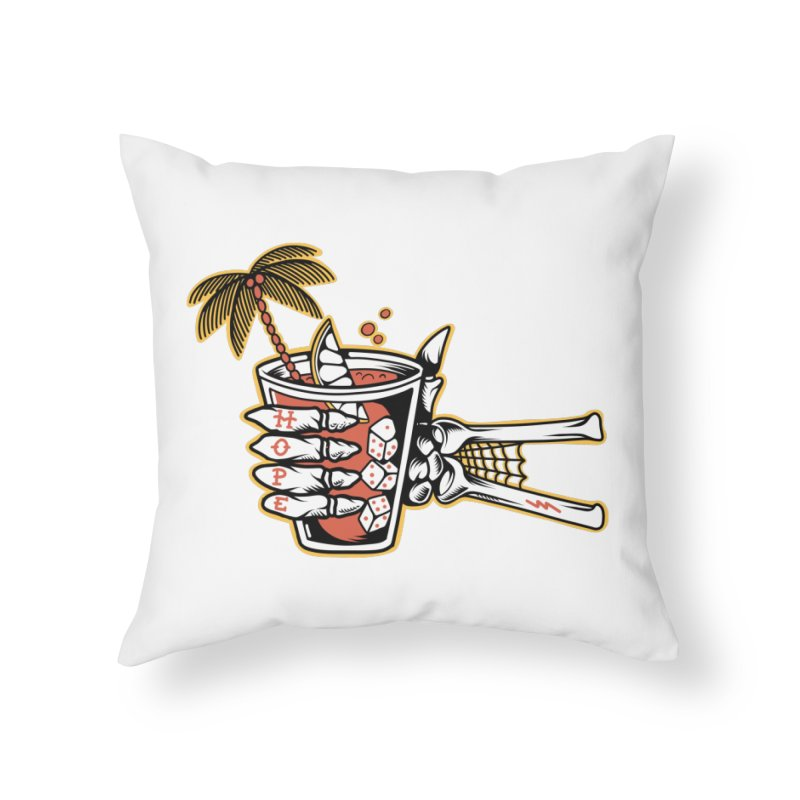 Hope cocktail Home Throw Pillow by Joe Tamponi