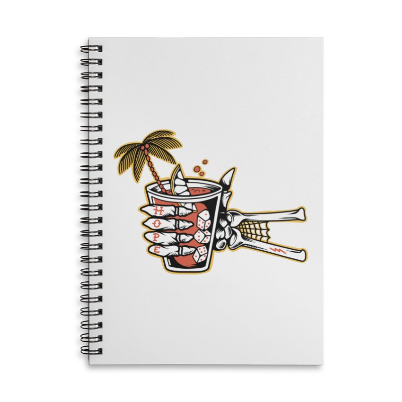 Hope cocktail Accessories Lined Spiral Notebook by Joe Tamponi