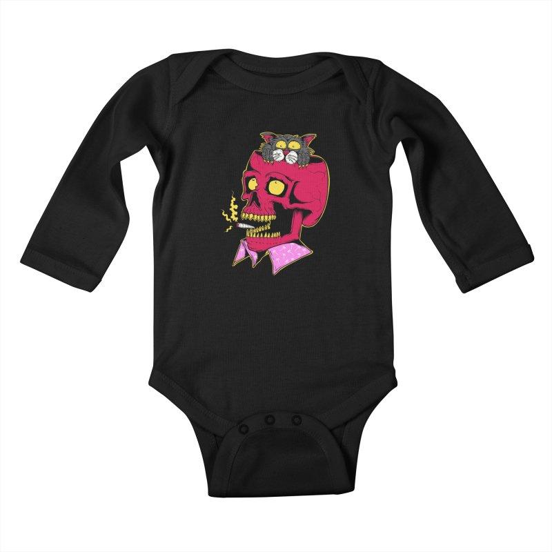 Dude, what the hell? Kids Baby Longsleeve Bodysuit by Joe Tamponi