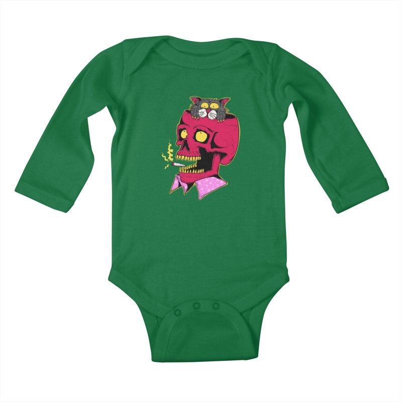 Dude, what the hell? Kids Baby Longsleeve Bodysuit by Joe Tamponi
