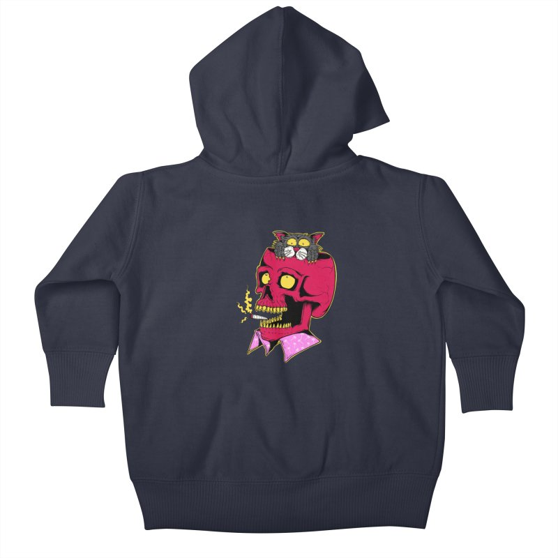 Dude, what the hell? Kids Baby Zip-Up Hoody by Joe Tamponi
