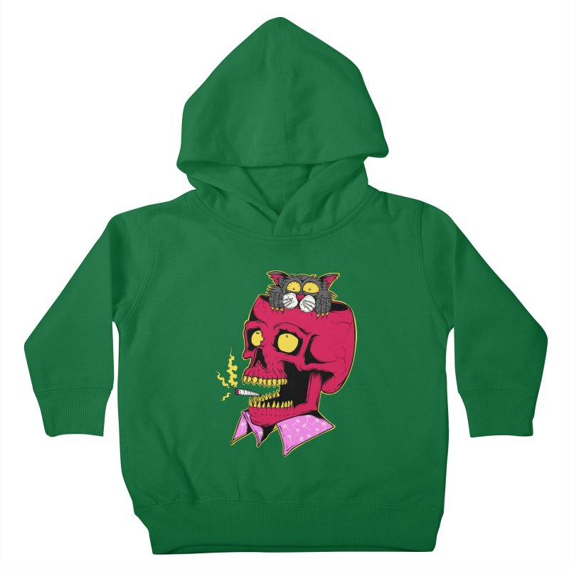 Dude, what the hell? Kids Toddler Pullover Hoody by Joe Tamponi