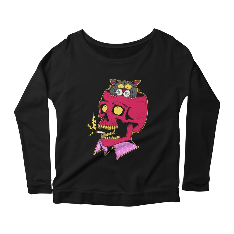 Dude, what the hell? Women's Scoop Neck Longsleeve T-Shirt by Joe Tamponi