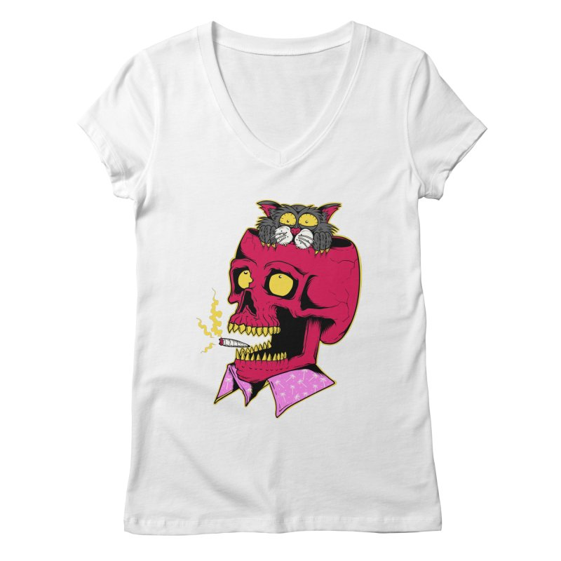 Dude, what the hell? Women's Regular V-Neck by Joe Tamponi