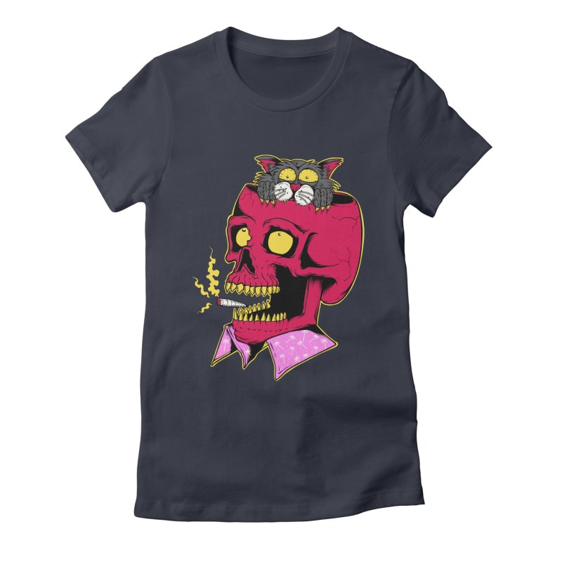 Dude, what the hell? Women's Fitted T-Shirt by Joe Tamponi