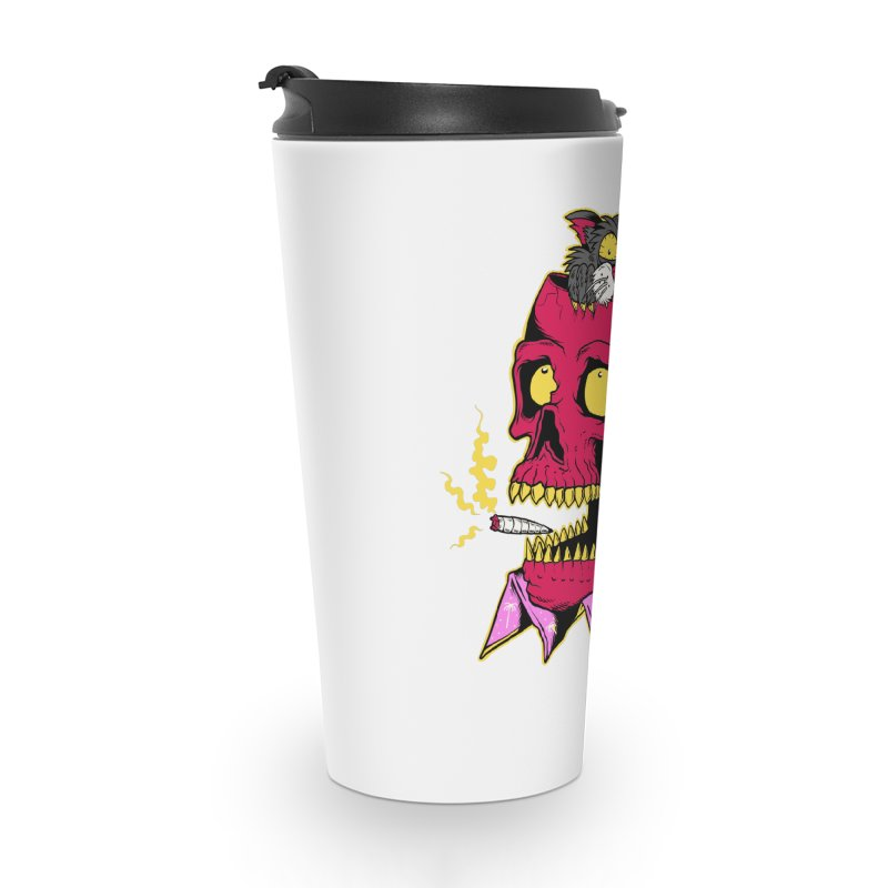 Dude, what the hell? Accessories Travel Mug by Joe Tamponi
