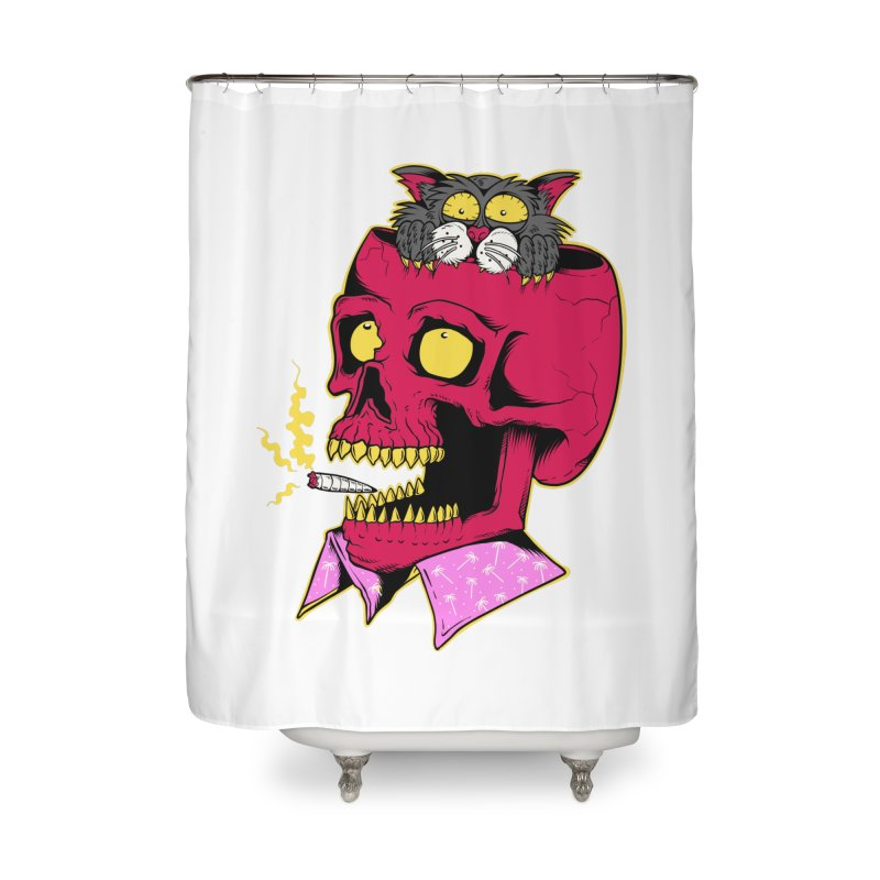 Dude, what the hell? Home Shower Curtain by Joe Tamponi