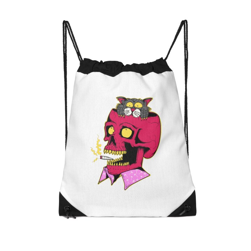 Dude, what the hell? Accessories Drawstring Bag Bag by Joe Tamponi