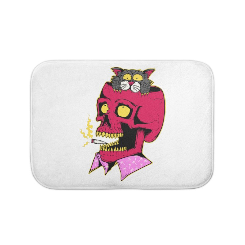 Dude, what the hell? Home Bath Mat by Joe Tamponi