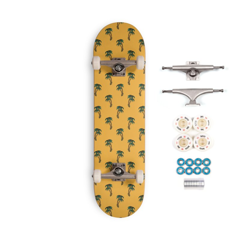 Palm Trees Skate deck Accessories Complete - Premium Skateboard by Joe Tamponi