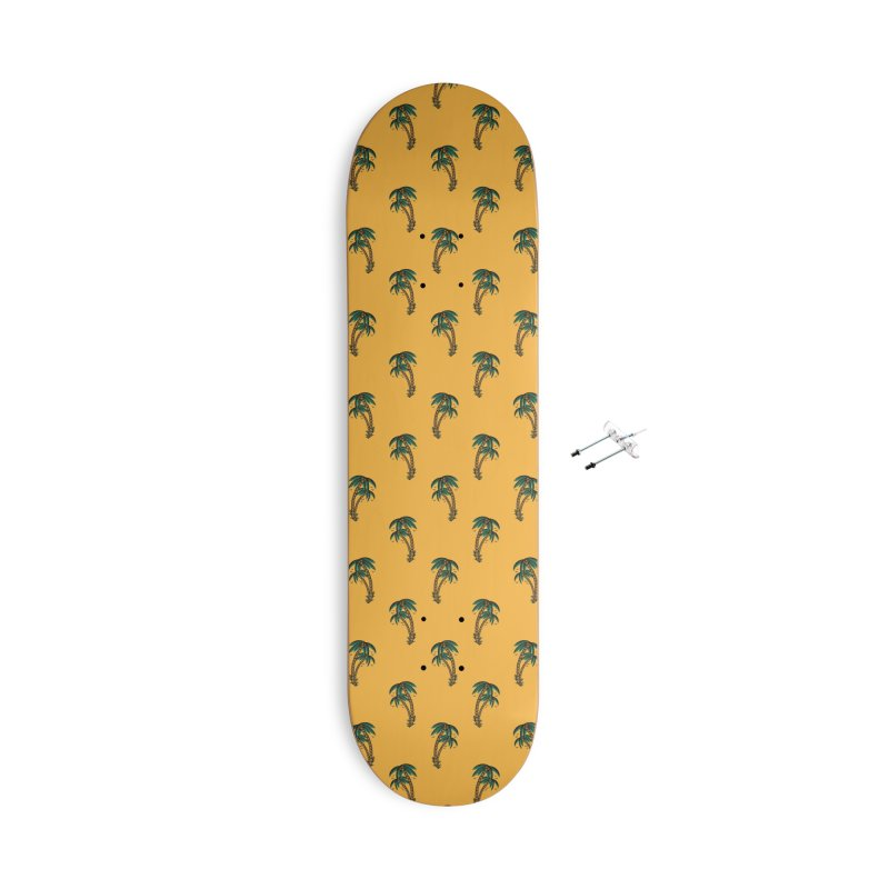 Palm Trees Skate deck Accessories With Hanging Hardware Skateboard by Joe Tamponi
