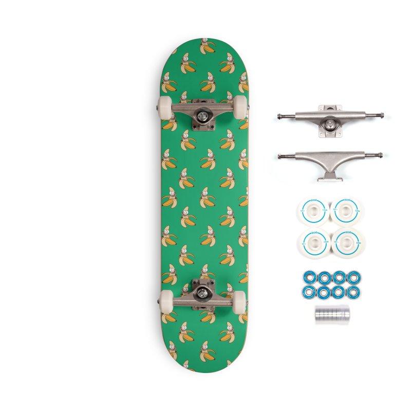 Crazy banana skate deck Accessories Complete - Basic Skateboard by Joe Tamponi