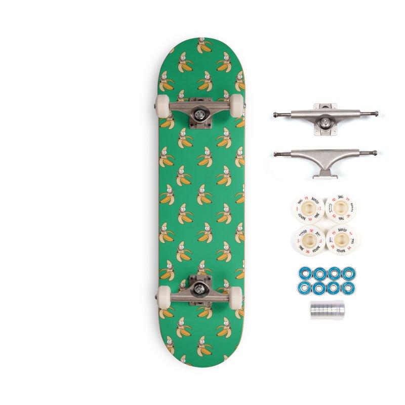Crazy banana skate deck Accessories Complete - Premium Skateboard by Joe Tamponi