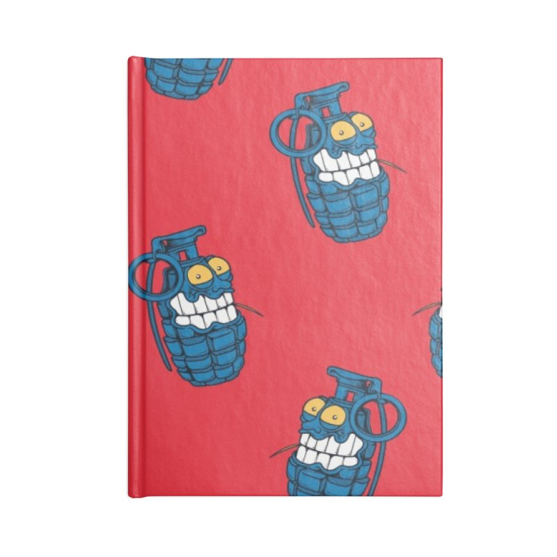 Toothpick Grenade skate deck Accessories Lined Journal Notebook by Joe Tamponi