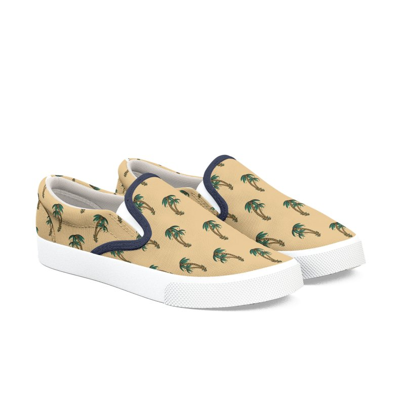 Palm tree Slip on Men's Slip-On Shoes by Joe Tamponi