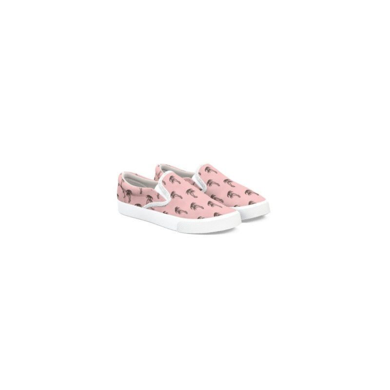 Pink Palm trees Men's Shoes by Joe Tamponi