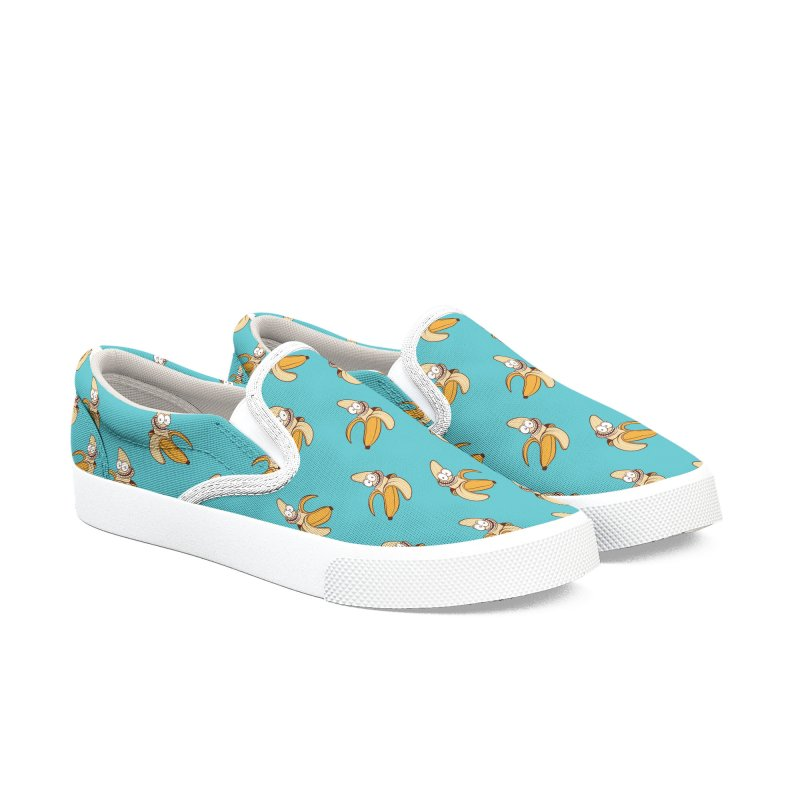 Blue Bananas - Slip-on Men's Slip-On Shoes by Joe Tamponi