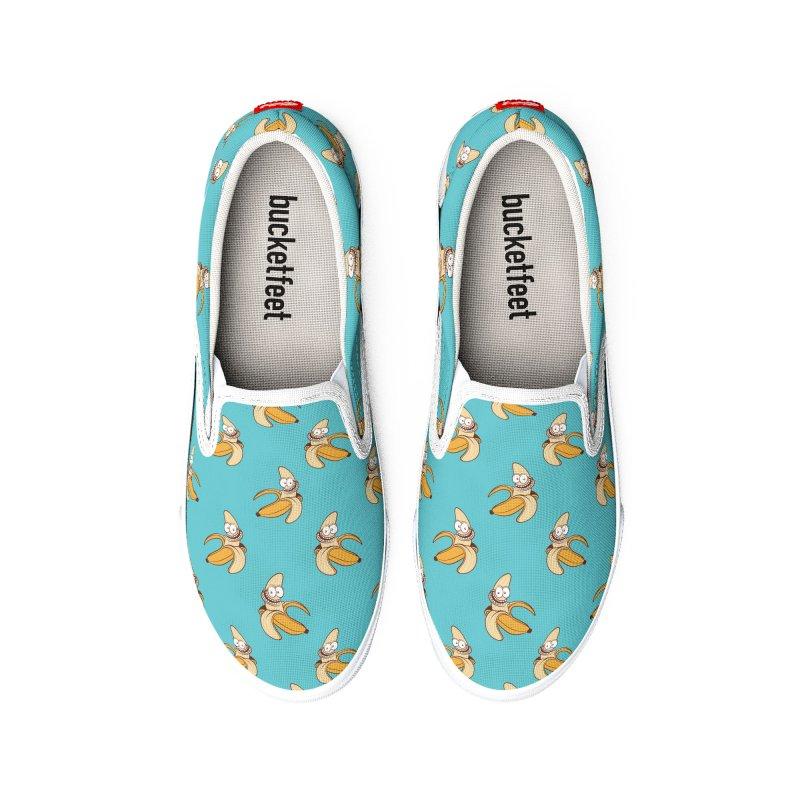 Blue Bananas - Slip-on Men's Shoes by Joe Tamponi