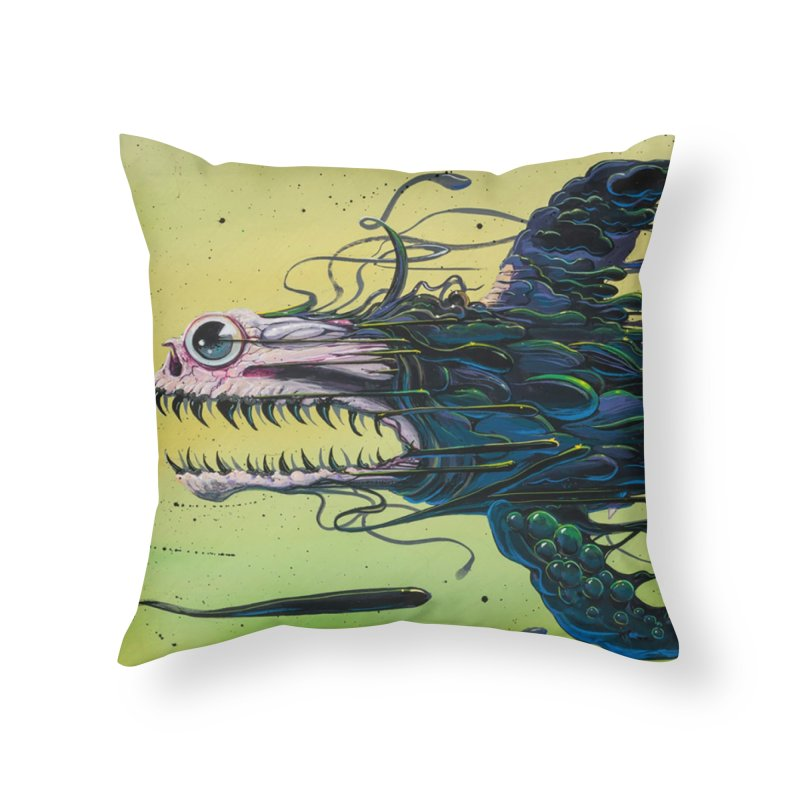 STRIPPED Home Throw Pillow by joevaux's Artist Shop
