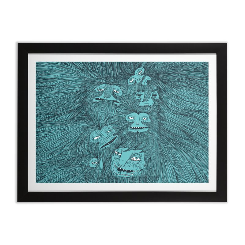 Hairwolves Home Framed Fine Art Print by Joe Van Wetering