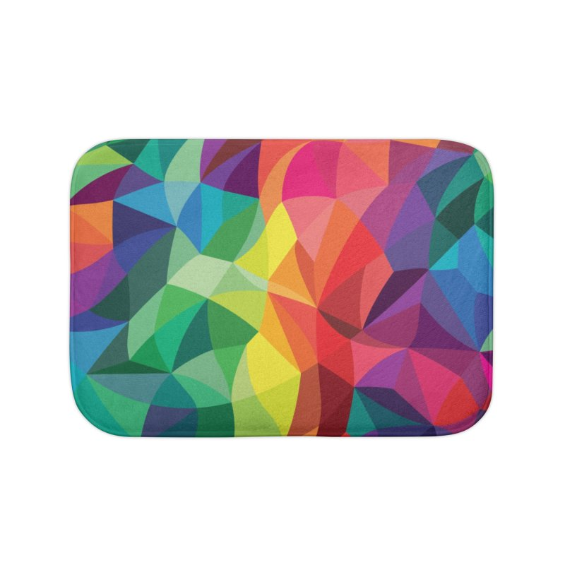Color shards Home Bath Mat by Joe Van Wetering