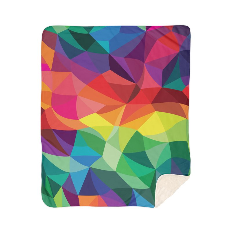 Color shards Home Sherpa Blanket Blanket by Joe Van Wetering