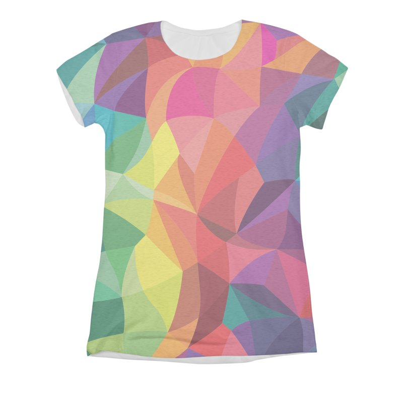Color shards Women's Triblend All Over Print by Joe Van Wetering