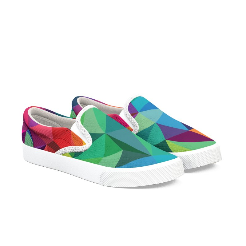 Color shards Men's Slip-On Shoes by Joe Van Wetering