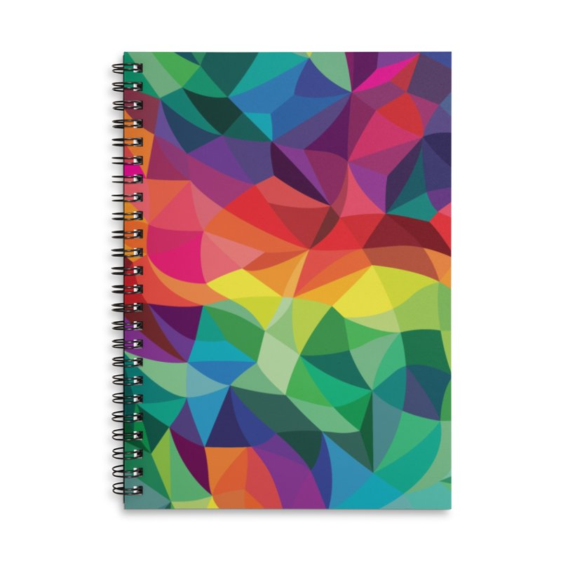 Color shards Accessories Lined Spiral Notebook by Joe Van Wetering