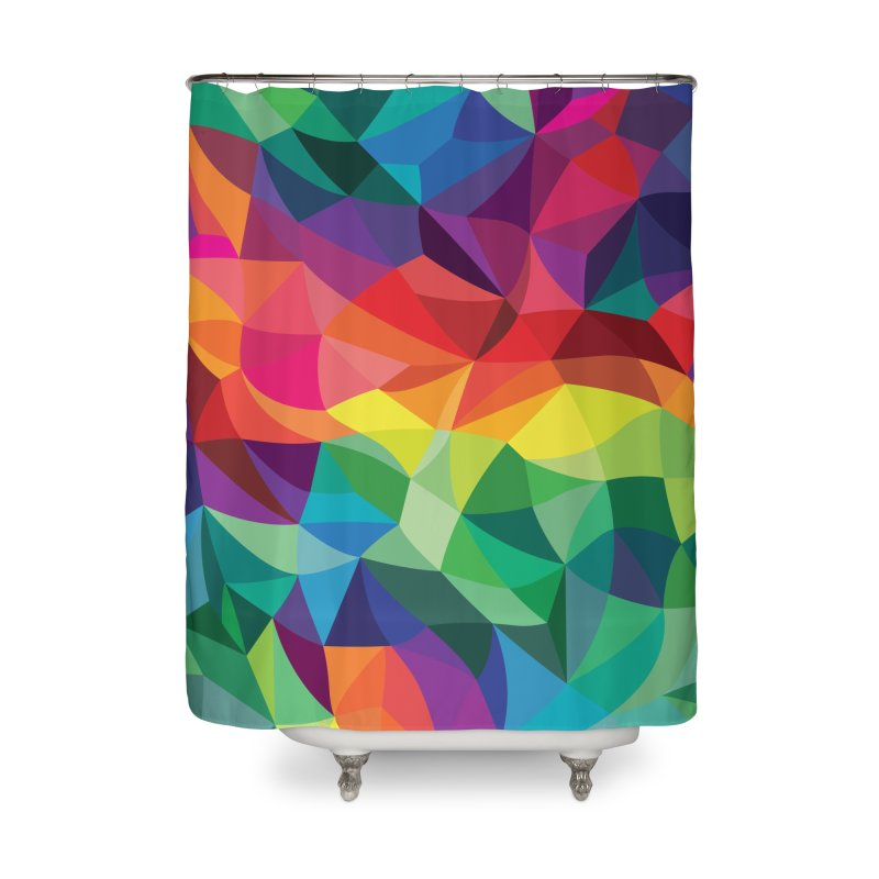 Color shards Home Shower Curtain by Joe Van Wetering