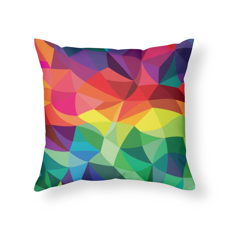 Color shards Home Throw Pillow by Joe Van Wetering