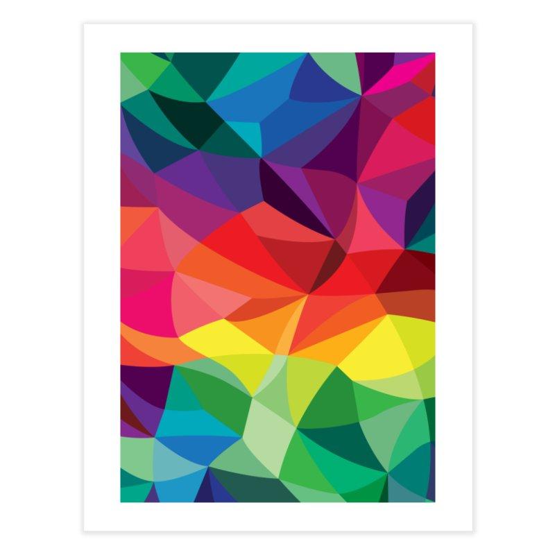 Color shards Home Fine Art Print by Joe Van Wetering