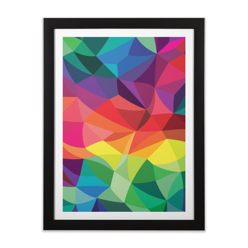 Color shards Home Framed Fine Art Print by Joe Van Wetering
