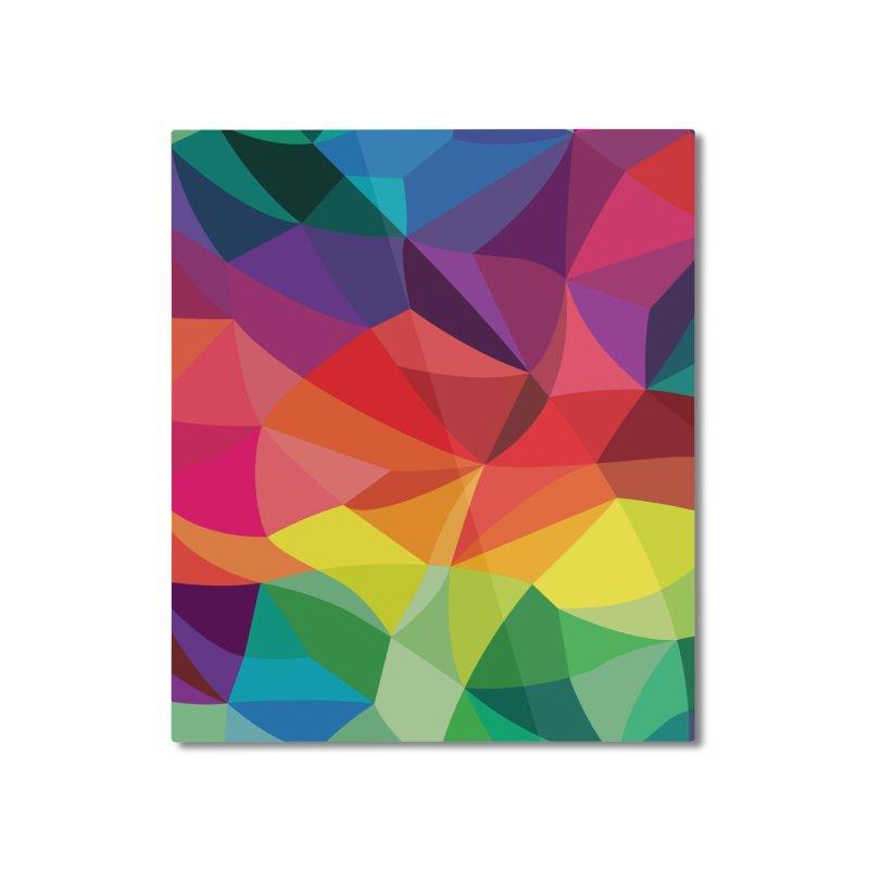 Color shards Home Mounted Aluminum Print by Joe Van Wetering