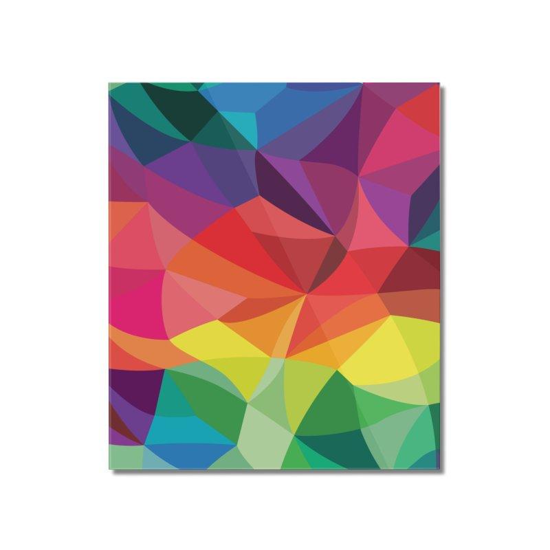 Color shards Home Mounted Acrylic Print by Joe Van Wetering