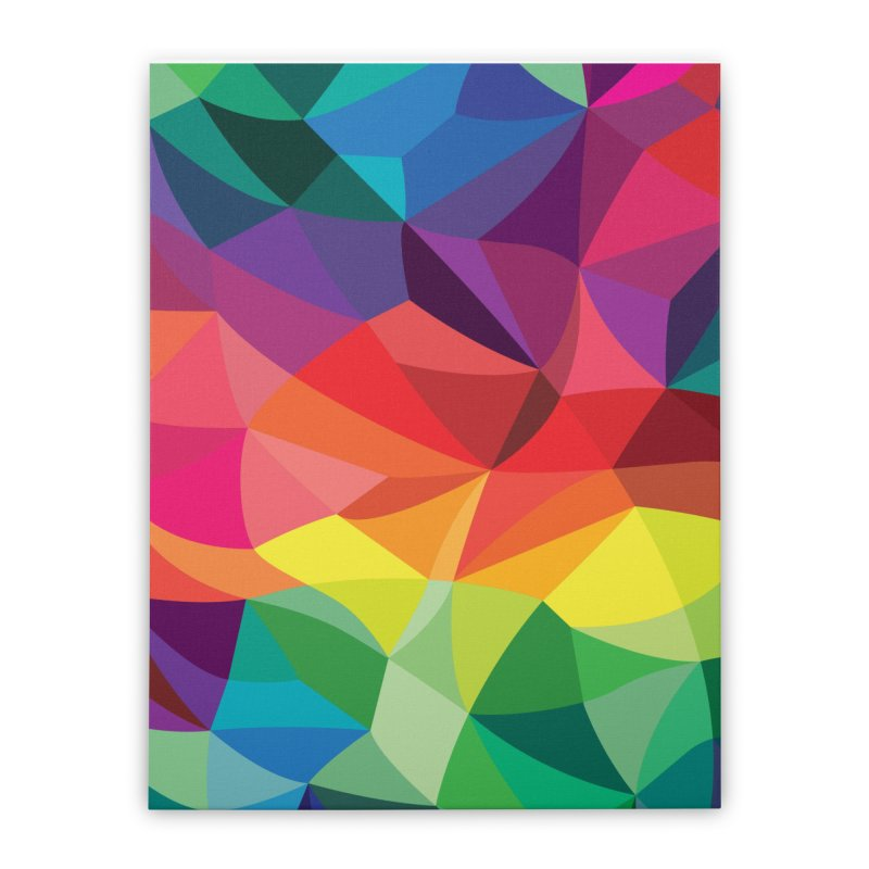 Color shards Home Stretched Canvas by Joe Van Wetering