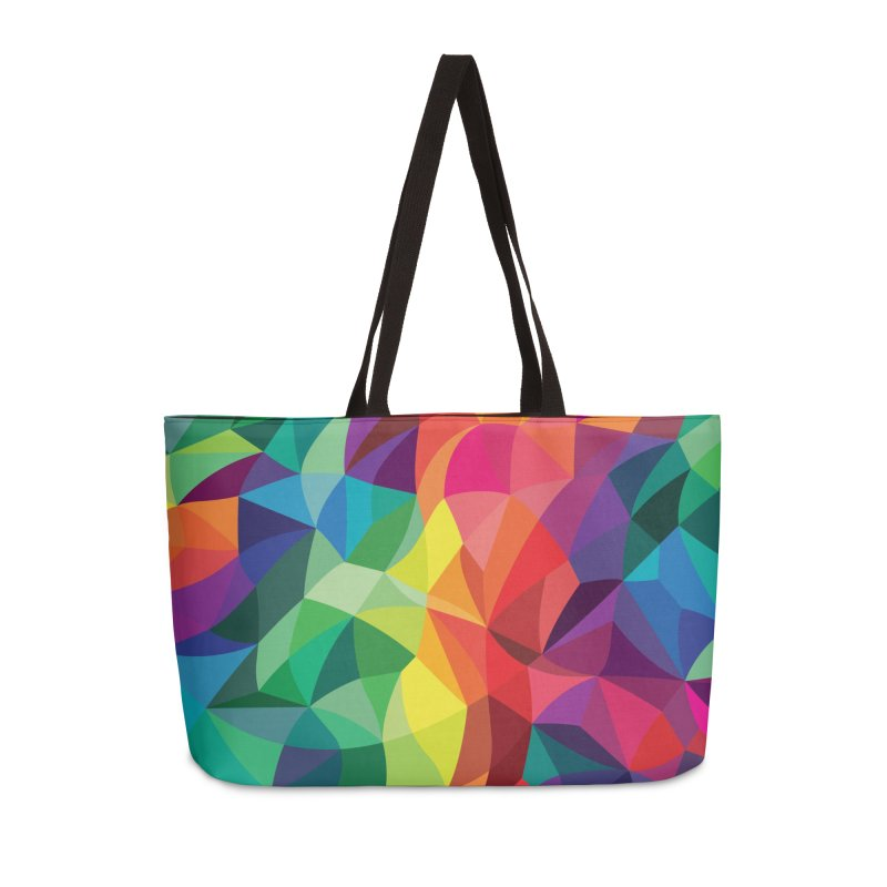 Color shards Accessories Weekender Bag Bag by Joe Van Wetering