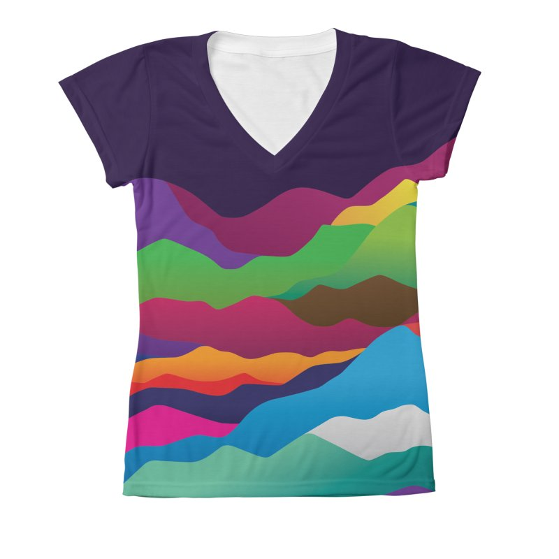 Mountains of Sand Women's V-Neck All Over Print by Joe Van Wetering