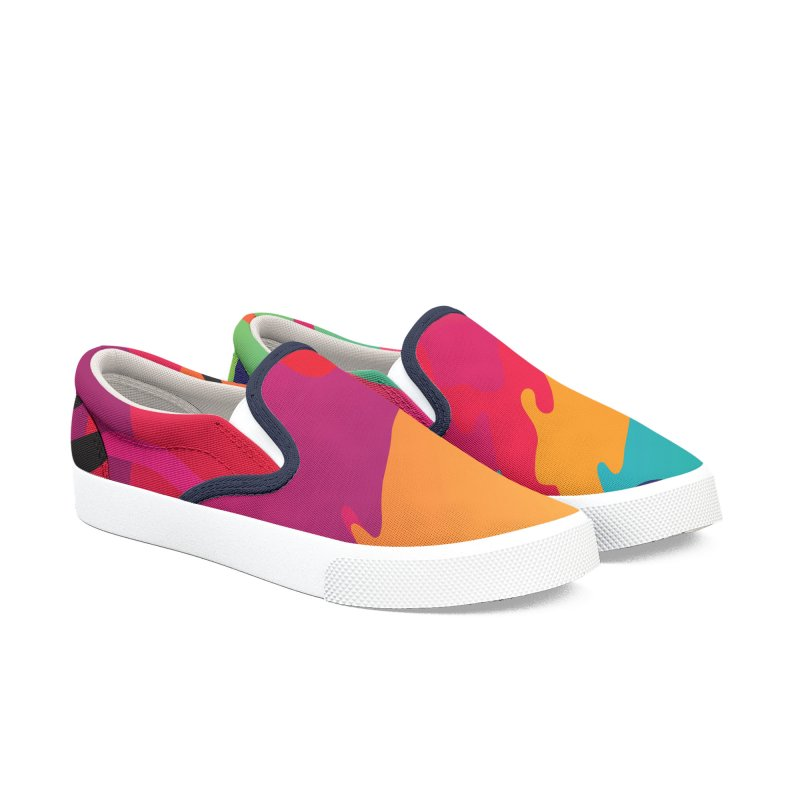 Pop Destruction Men's Slip-On Shoes by Joe Van Wetering