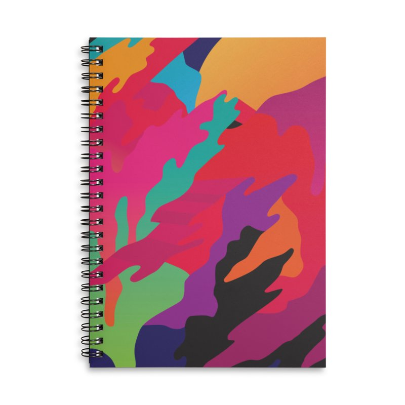 Pop Destruction Accessories Lined Spiral Notebook by Joe Van Wetering