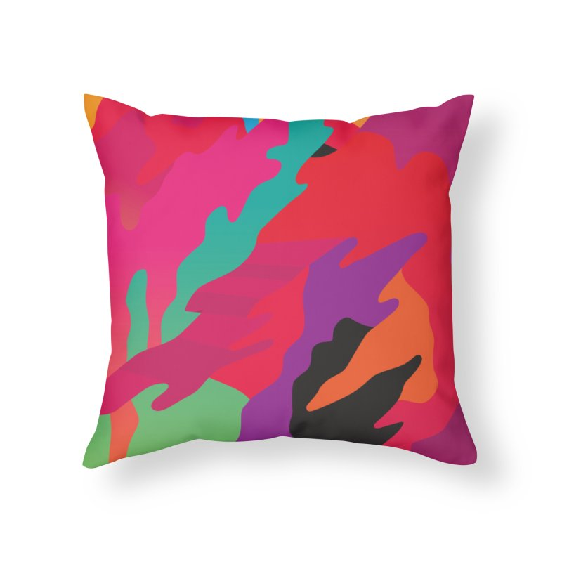 Pop Destruction Home Throw Pillow by Joe Van Wetering