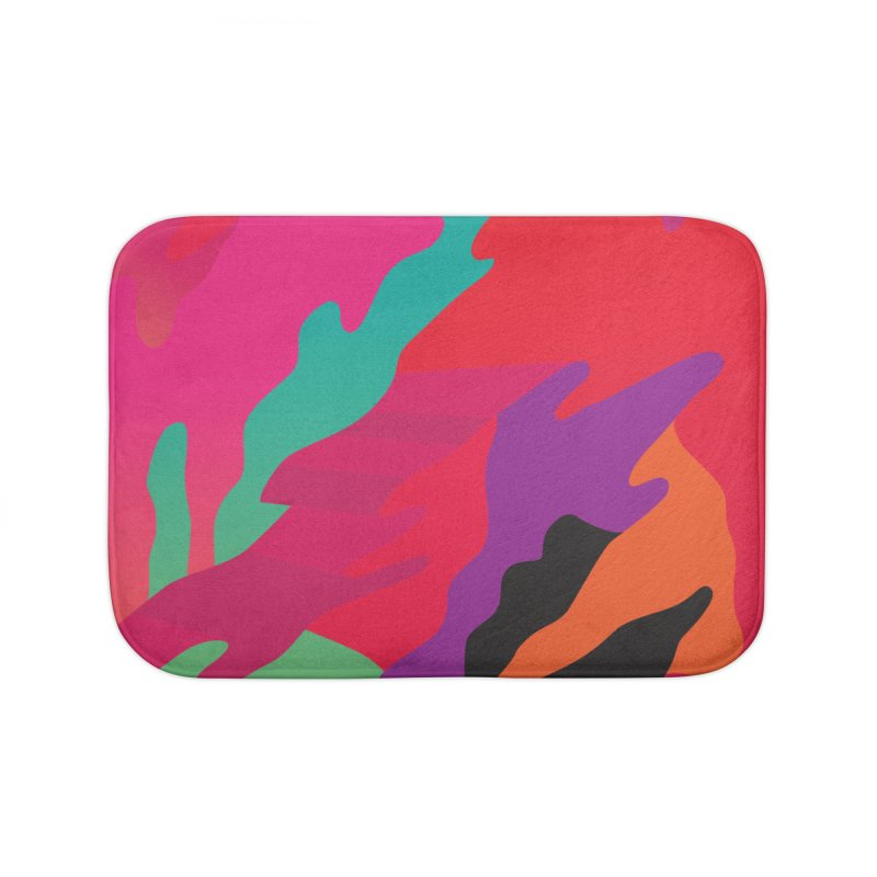 Pop Destruction Home Bath Mat by Joe Van Wetering