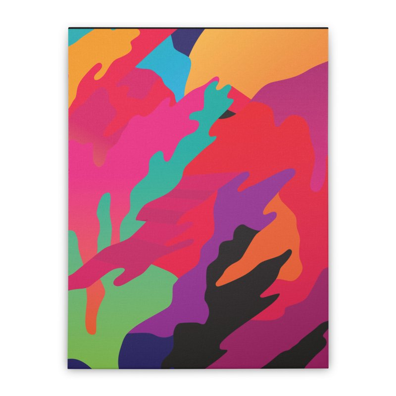 Pop Destruction Home Stretched Canvas by Joe Van Wetering