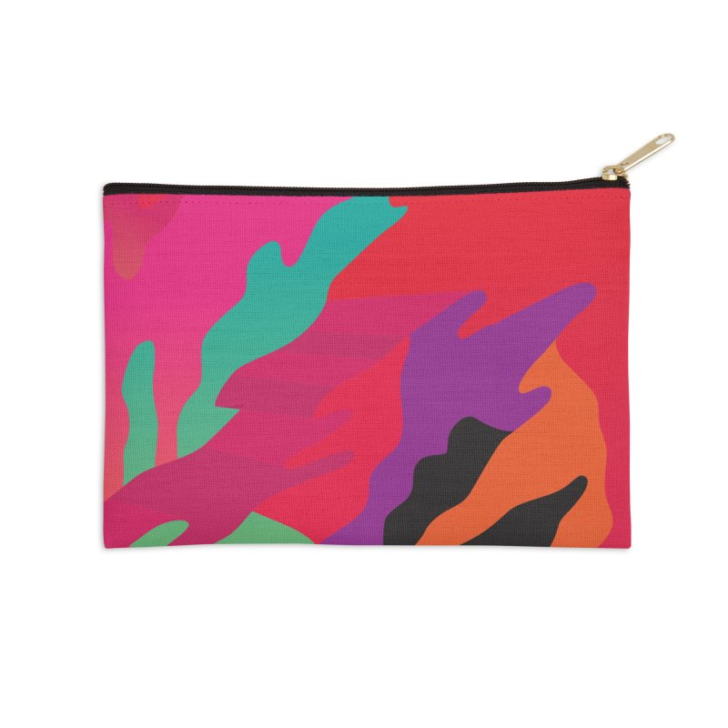 Pop Destruction Accessories Zip Pouch by Joe Van Wetering