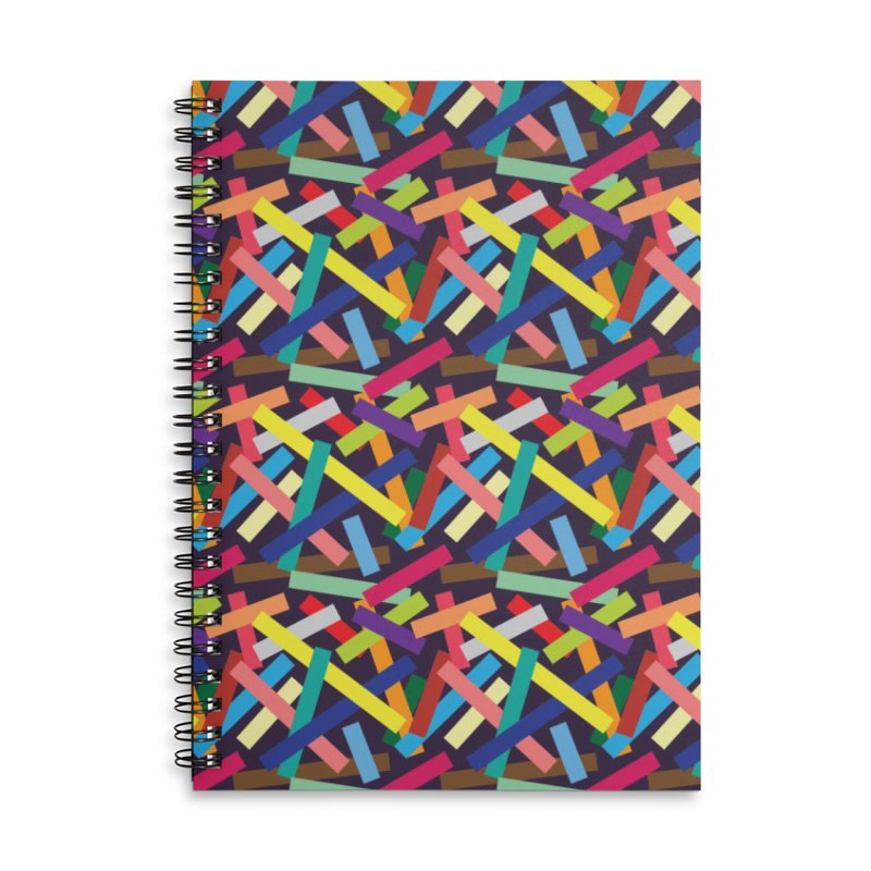 Confetti Accessories Lined Spiral Notebook by Joe Van Wetering