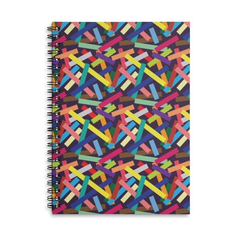 Confetti Accessories Lined Spiral Notebook by Joe Van Wetering