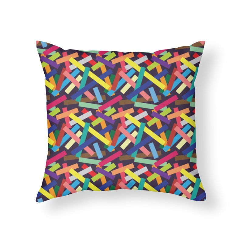 Confetti Home Throw Pillow by Joe Van Wetering